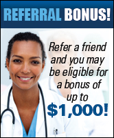 Referral Bonus! Refer a friend and you may be eligible for a bonus of up to $1,000!