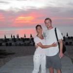 Stephanie and her husband Adam in Phuket