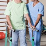 Cater your physical therapy program to meet the senior's needs.