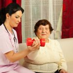Occupational therapists at rehabilitation facilities often work with an older patient population.