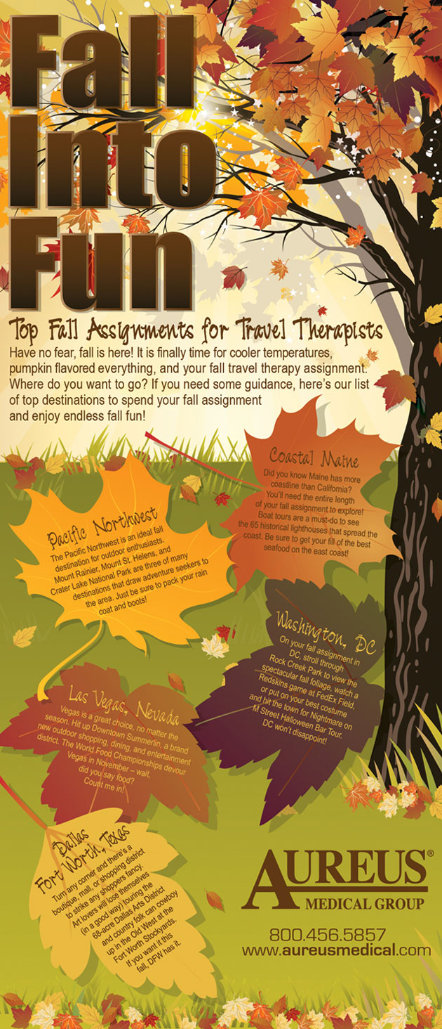 Top Fall Assignments for Travel Therapists